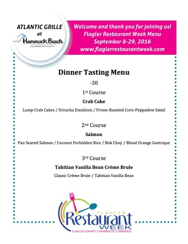 Atlantic grill menu