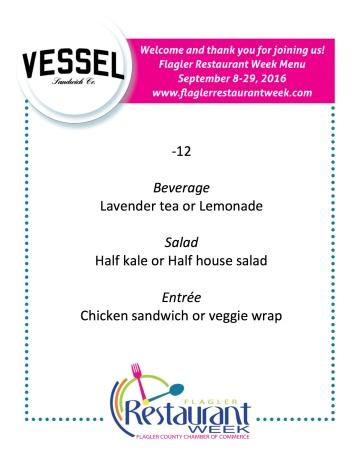 Vessel menu